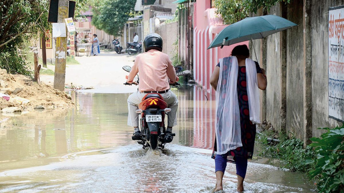 Flood of stink in parched city